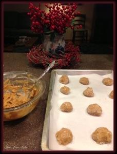 molasses cookies before baking
